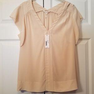 NWT Rebecca Taylor silk pink blouse
